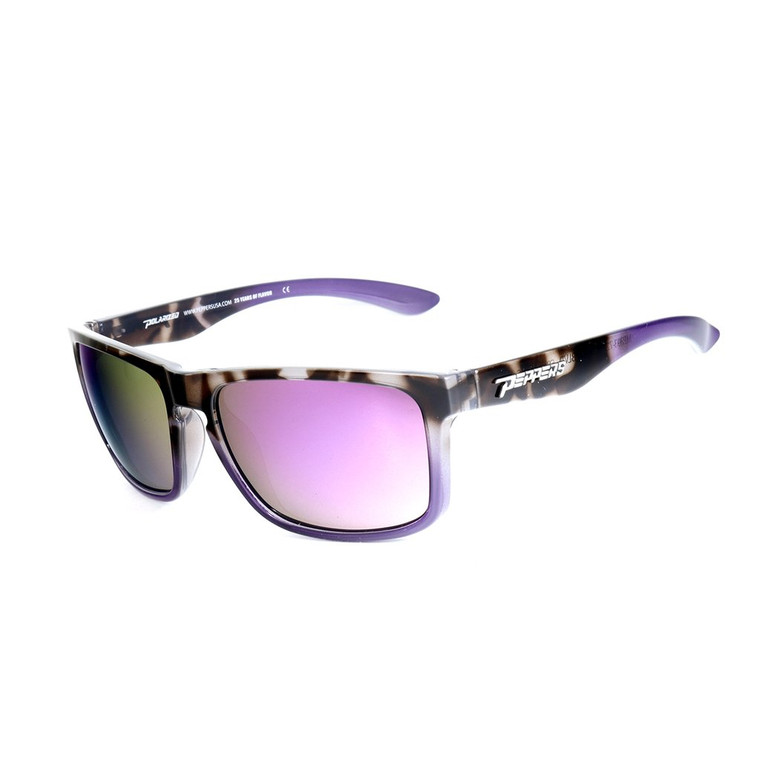 Sunset BLVD Sunglasses - Purple Tortoise Shell with Purple Mirror Lens
