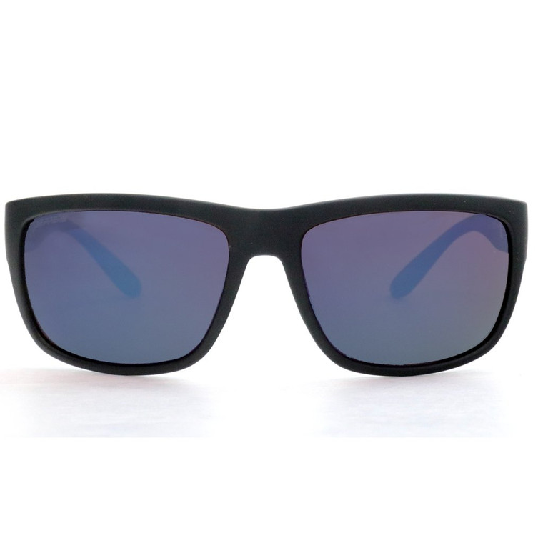 Orca Sunglasses - Rubberized Black/Rose with Blue