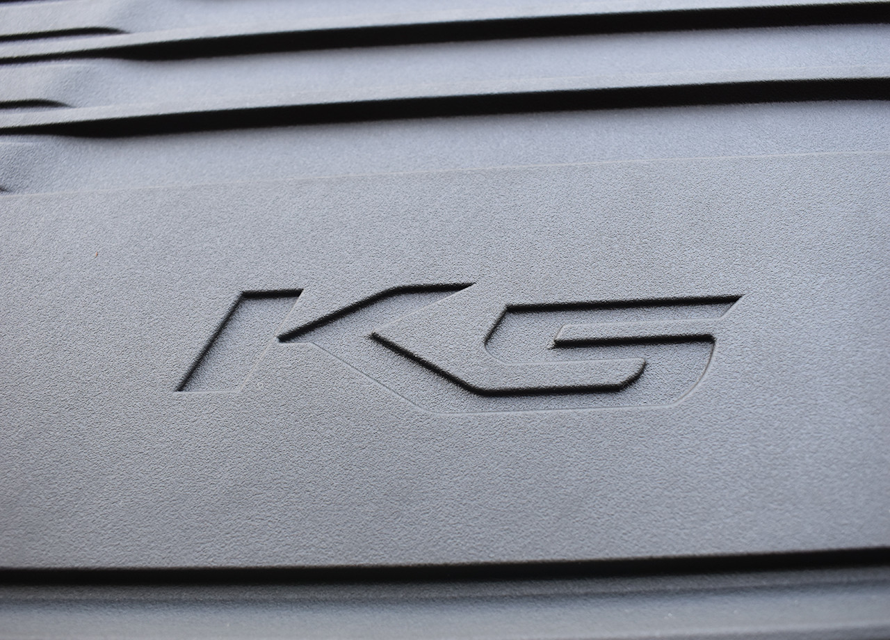 2021 Kia K5 Rubber Floor Mats (Close up of K5 Logo)