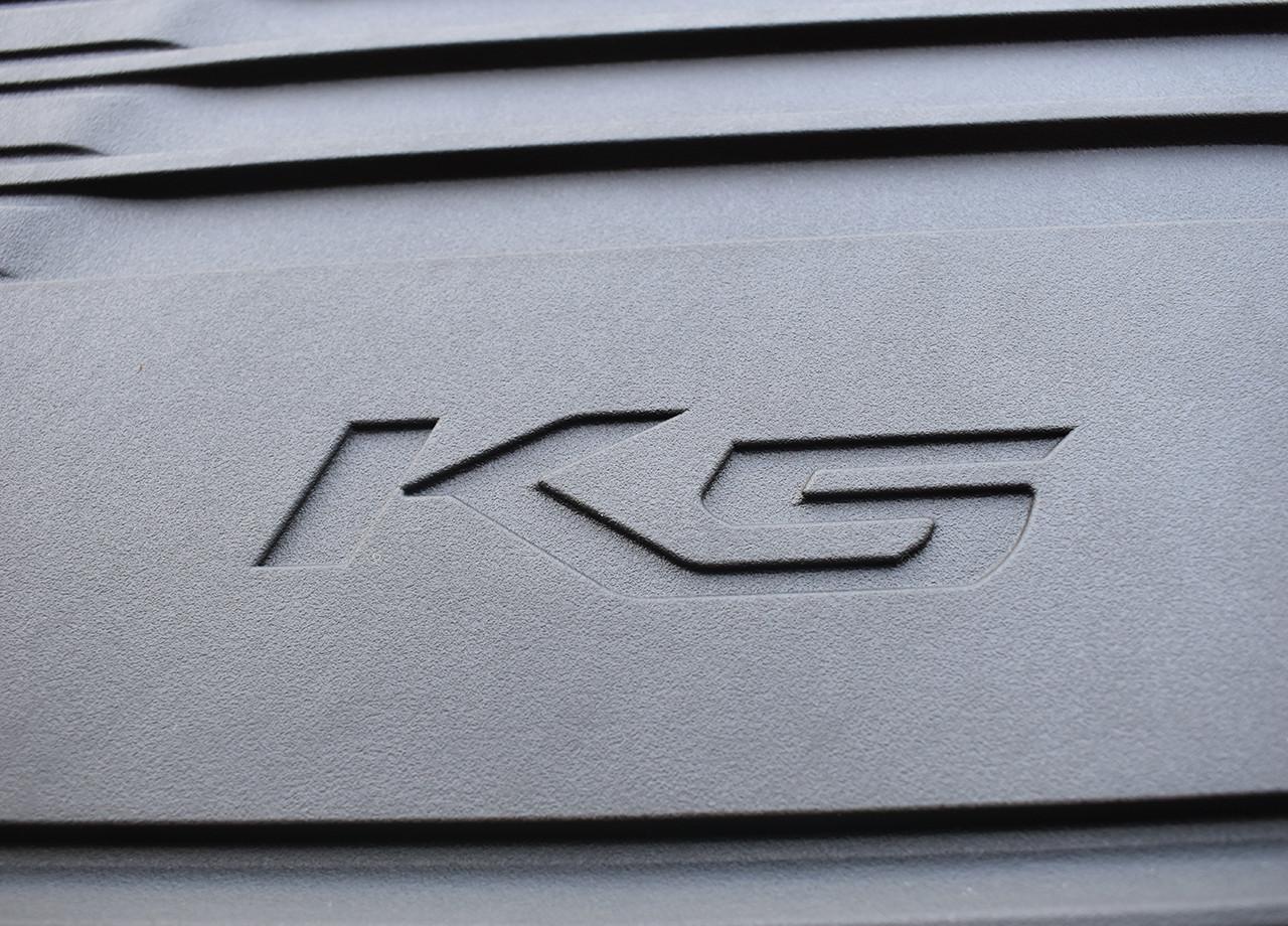 2021-2022 Kia K5 Rubber Floor Mats (Close up of K5 Logo)