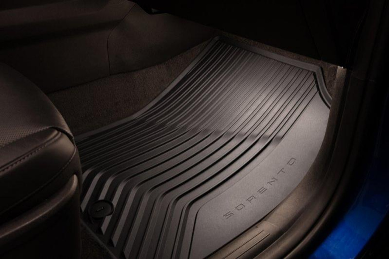 2021 Kia Sorento All-Weather Floor Mats - Passenger Mat in Vehicle