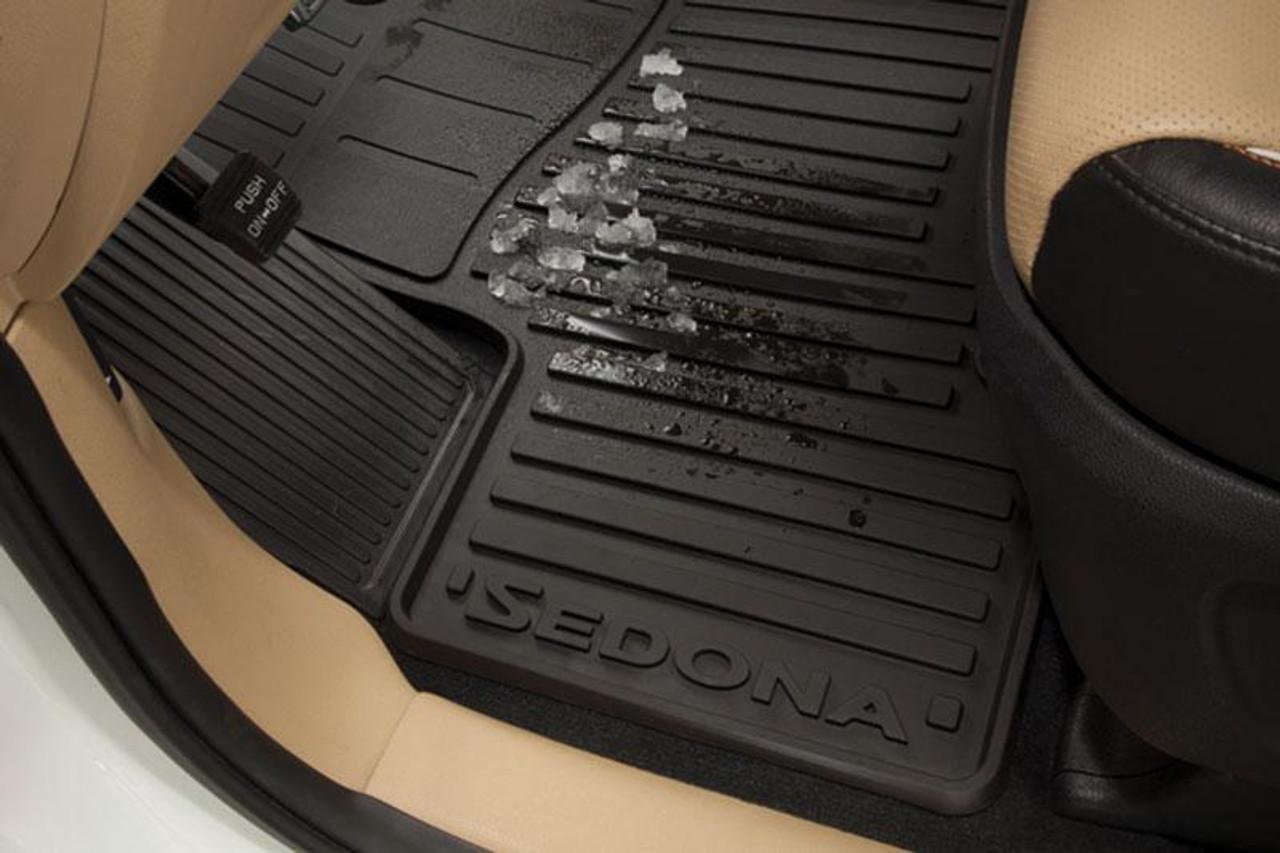 kia mats floor sedona rubber weather factory oem parts accessories sx adu00 winter lx front kiastuff rows needs shipping weathertech