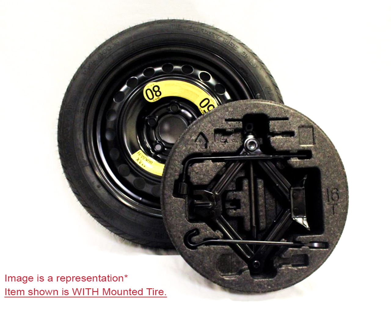 2014-2021 Kia Soul Spare Tire Kit - OPTION 2 - WITH MOUNTED TIRE