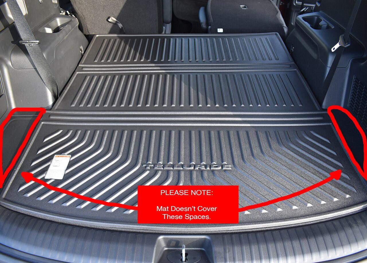 2020-2022 Kia Telluride Folding Cargo Tray, when third row is down (fitment note)
