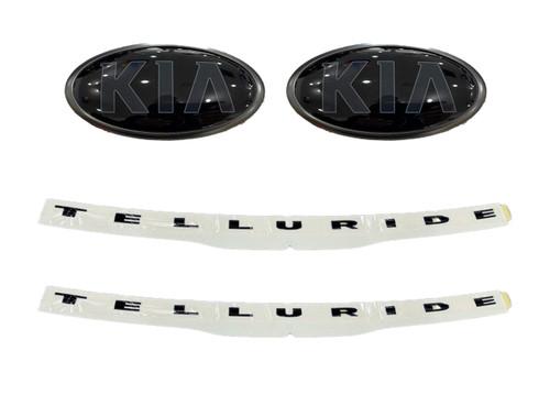 2020-2021 Kia Telluride Nightfall Emblems - Full Kit