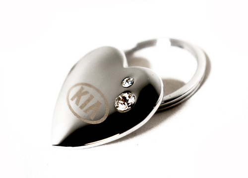 Kia Heart Shaped Keychain