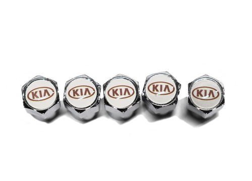 Kia Valve Stem Caps - Red Logo