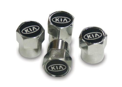 Kia Valve Stem Caps - White Logo