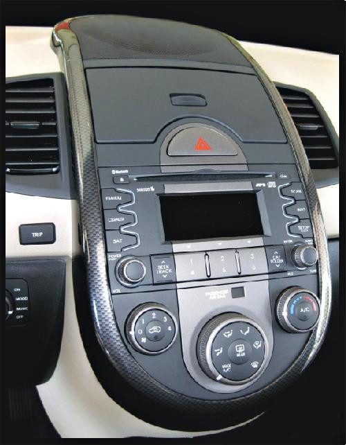 Kia Soul Carbon Fiber Dash Applique