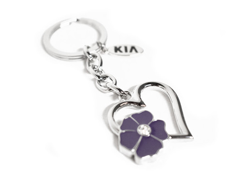 Kia Optima Flower Heart Keychain