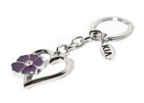 Kia Flower Heart Keychain