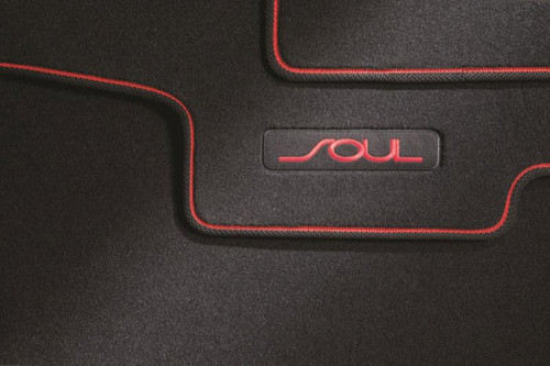 Kia Soul Floor Mats - Red Logo