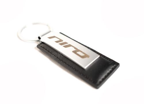 Kia Niro Black Leather Keychain