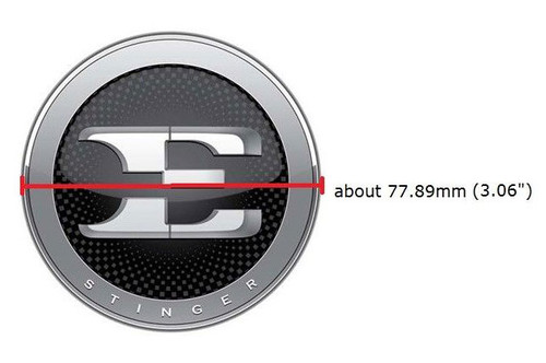 Kia Stinger Hood Emblem - Measurements