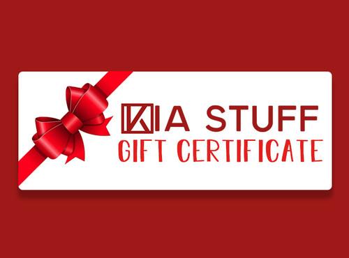 Kia Stuff Gift Certificate