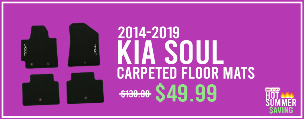 Summer Saving Special: 2014-2019 Kia Soul Carpeted Floor Mats