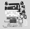 Mopar C Body 65-68 AC Heater Box Rebuild Restoration Seal Gasket Kit