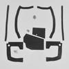Mopar B Body 70 Coronet Super Bee MEGA Splash Shield Set -Manual