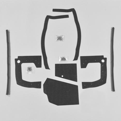 Mopar B Body 1967 67 Coronet MEGA Splash Shield Set Kit Seals Manual Trans DMT