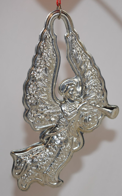 Kirk Stieff Pewter Angel with Horn Ornament (Ornament Only) Dated 1992