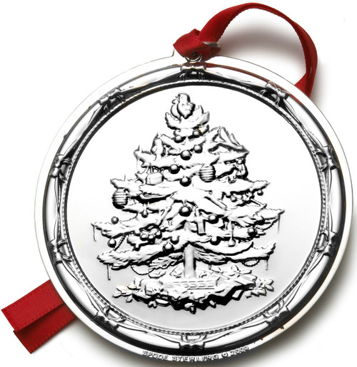 Spode Sterling Christmas Tree Ornament 2009