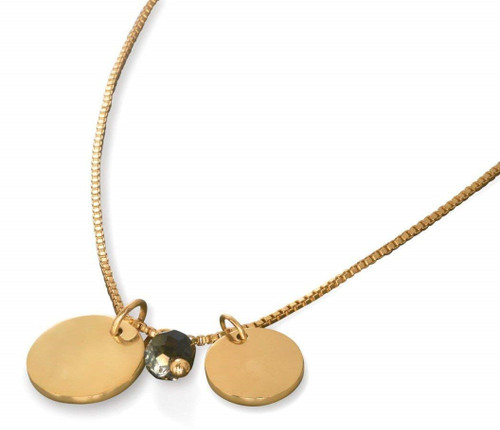 Waterford Rebel Coco Gold Pendant and Tags