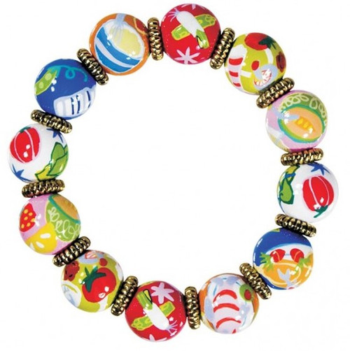 Angela Moore Bon Appetit Food Classic Beaded Bracelet