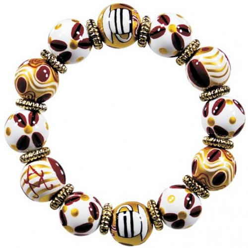 Angela Moore Coffee Nut Classic Beaded Bracelet