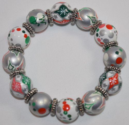 Angela Moore Christmas Holiday Sweets Classic Beaded Bracelet