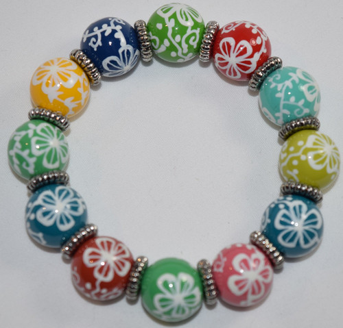 Angela Moore Aloha Multi Hawaii Classic Beaded Bracelet