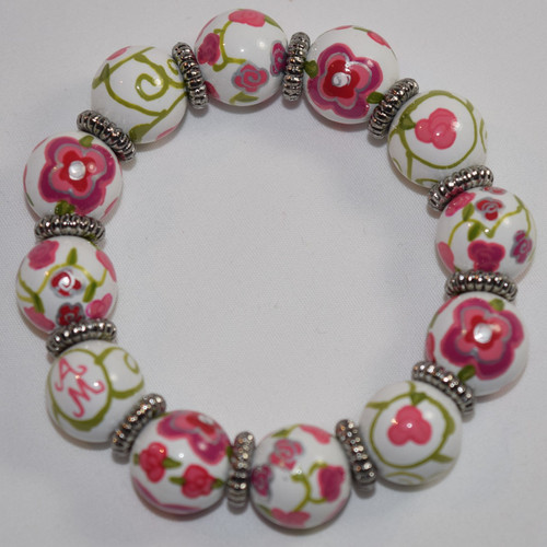 Angela Moore American Beauty Rose Classic Beaded Bracelet