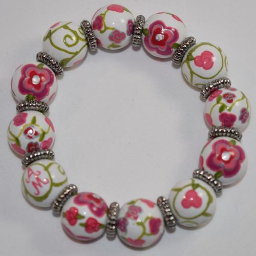 Angela Moore American Beauty Rose Classic Beaded Bracelet