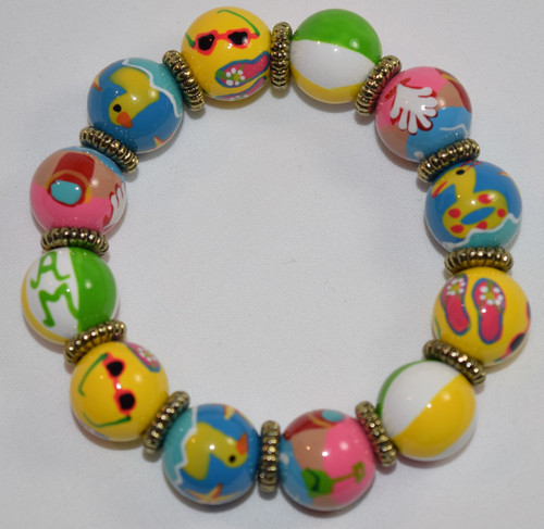 Angela Moore Beach Baby By The Sea Classic Beaded Bracelet