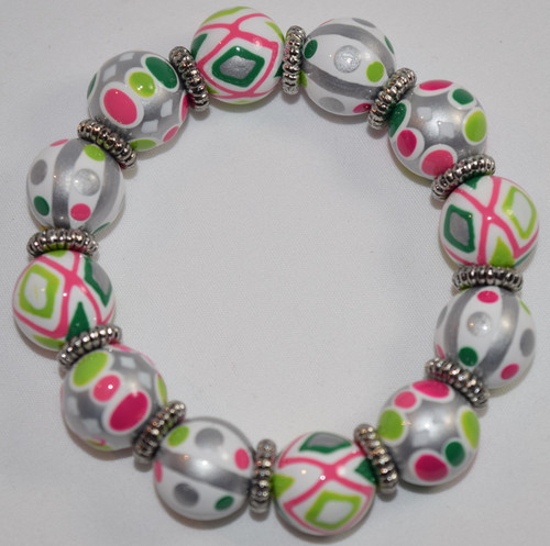 Angela Moore Cool Confetti Classic Beaded Bracelet