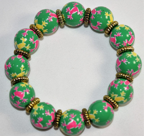 Angela Moore Frogs Only Classic Beaded Bracelet