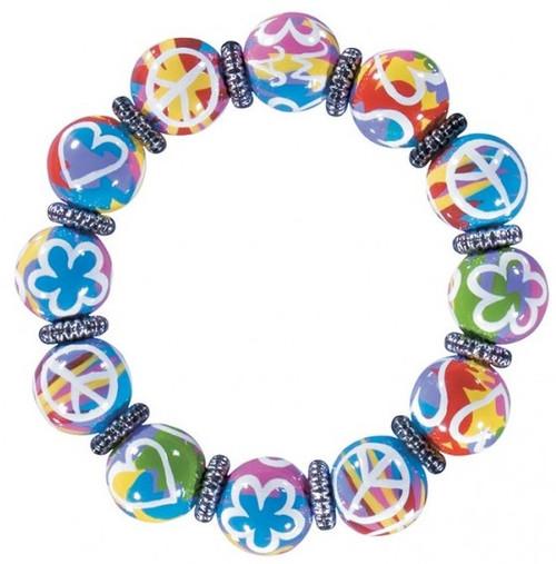 Angela Moore Love Your Life Peace Love Classic Beaded Bracelet
