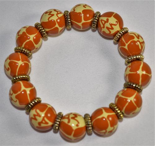 Angela Moore Giraffe Classic Beaded Bracelet
