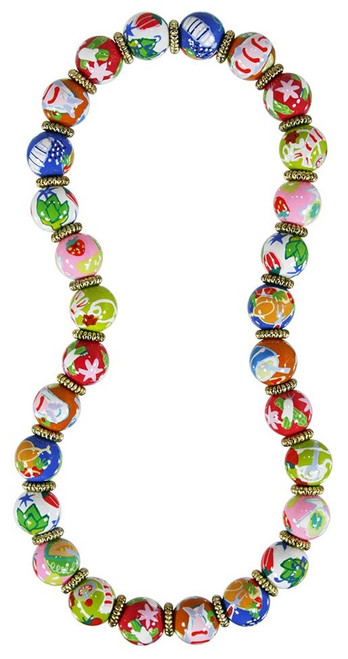 Angela Moore Bon Appetit Food Classic Beaded Necklace