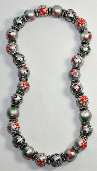 Angela Moore Christmas Holiday Sweets Classic Beaded Necklace