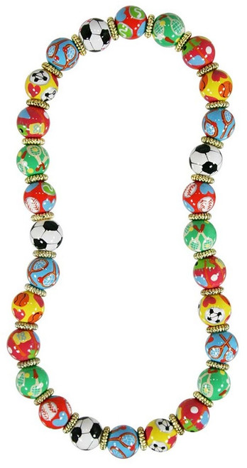Angela Moore Sporty Girl Classic Beaded Necklace