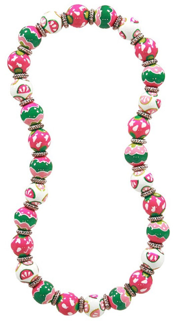 Angela Moore Watermelon Patch Classic Beaded Necklace