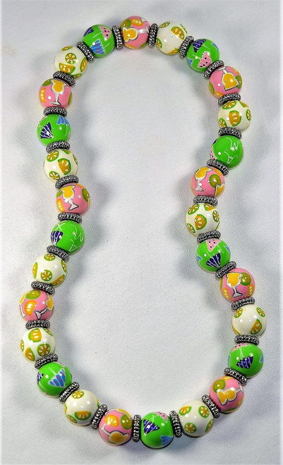 Angela Moore Margarita Mambo Cocktail Drink Classic Beaded Necklace