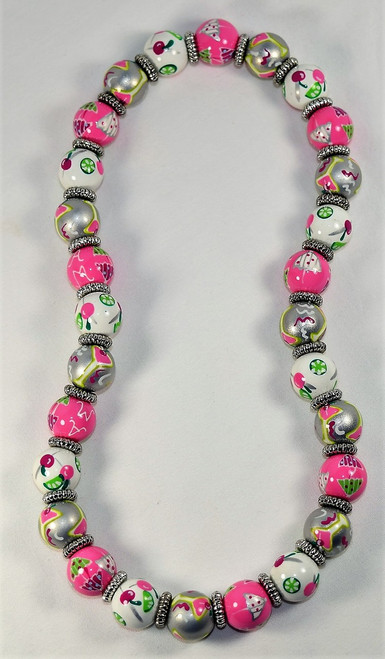 Angela Moore Cool Cosmo Cosmopolitan Cocktail Drink Classic Beaded Necklace