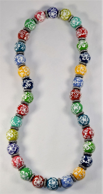 Angela Moore Aloha Multi Hawaii Relaxed Fit Beaded Necklace