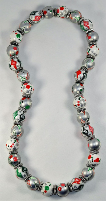 Angela Moore Christmas Holiday Sweets Relaxed Fit Beaded Necklace