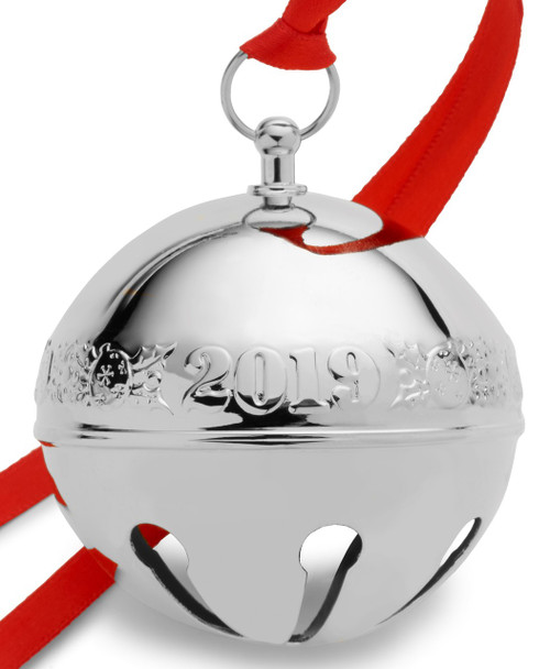Wallace Annual Sleigh Bell Ornament 2019 - Silver Plate