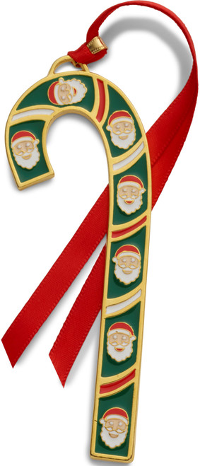 Wallace Annual Candy Cane Ornament 2019 - Gold Plate