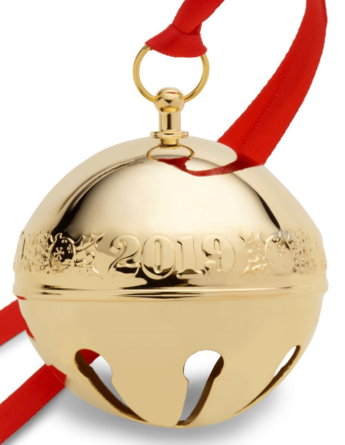 Wallace Annual Sleigh Bell Ornament 2019 - Gold Plate