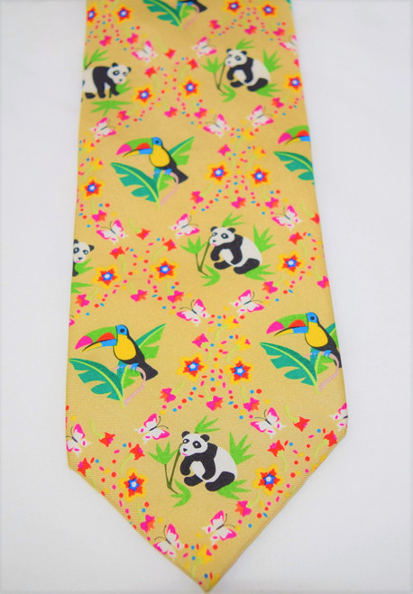 Angela Moore Earth Day Khaki Mens Silk Neck Tie