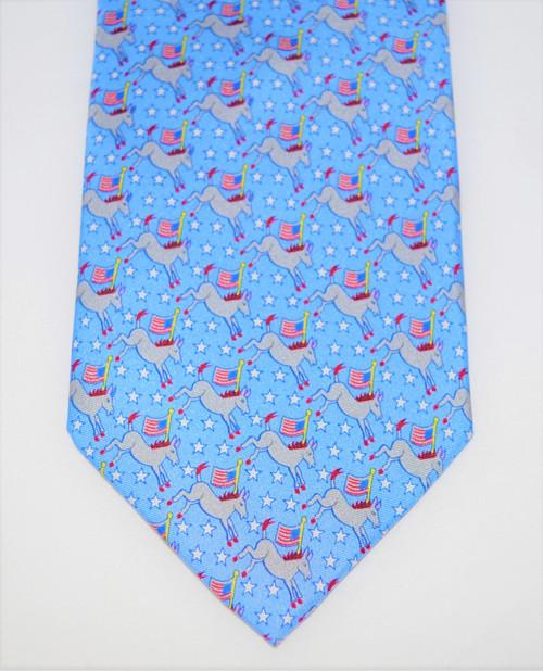 Angela Moore Democrats Blue Mens Silk Neck Tie